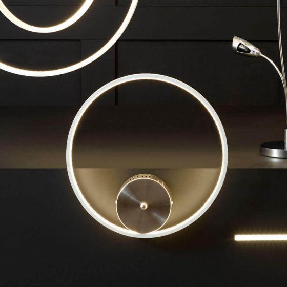 Langston White LED Circle Wall Light