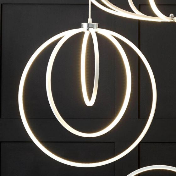 Langston White LED Circles Pendant