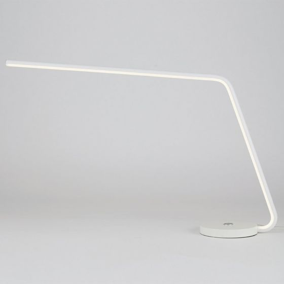 Langston White LED Single Arm Desk Lamp