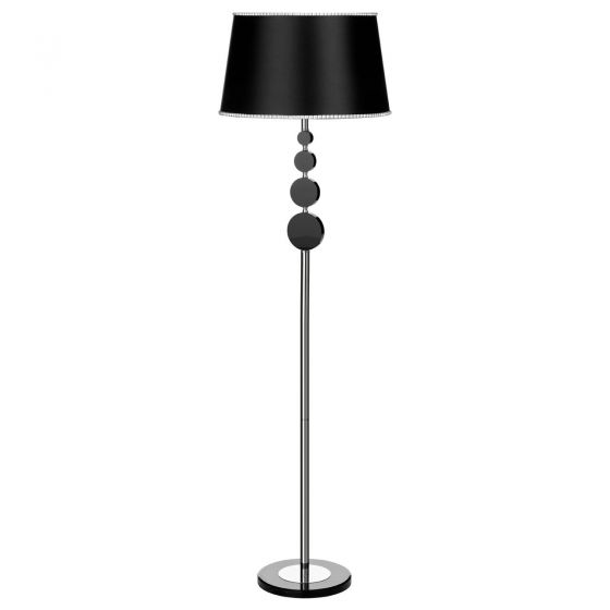 Large To Small 4 Orb Black Floor Lamp