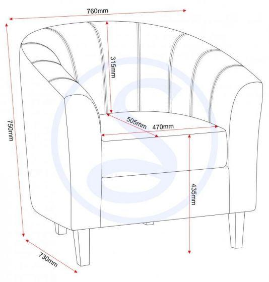Leo Black PU Tub Chair
