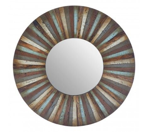 Linda Brown Wooden Wall Mirror
