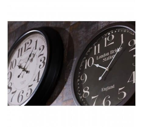 London Bridge Black Iron Wall Clock