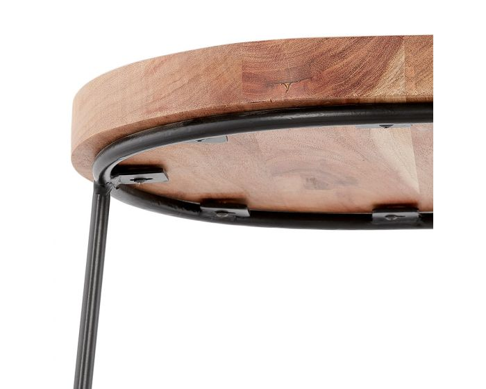 Majken Wood and Black Bar Stool