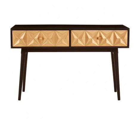 Malta Black Mango Wood Console Table