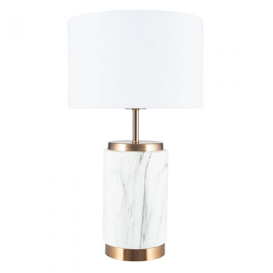 Small Marble and Light Gold Table Lamp