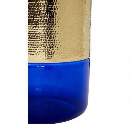 Margaret Blue Glass Side Table
