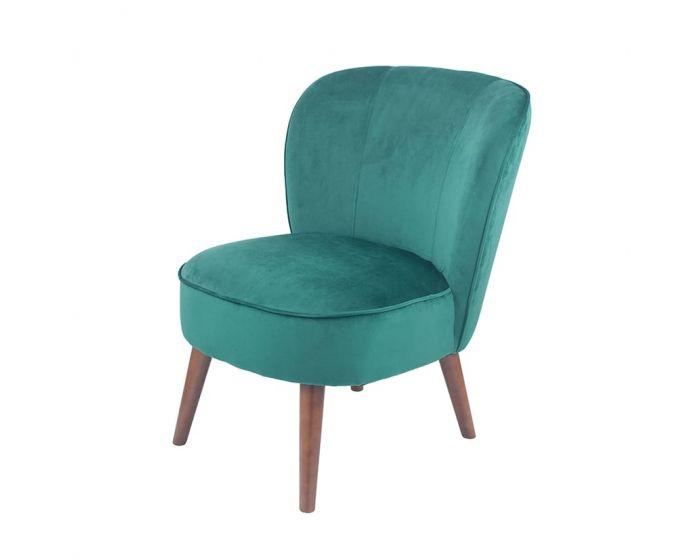 Mario Narrow Forest Green Velvet Chair