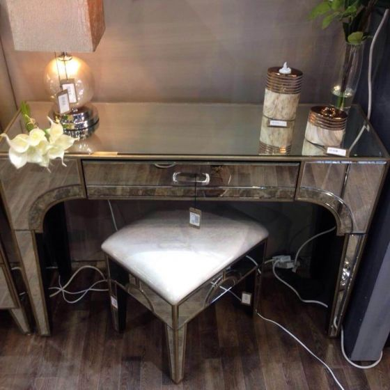 Vintage Mirrored Morocco 1 Drawer Console Table