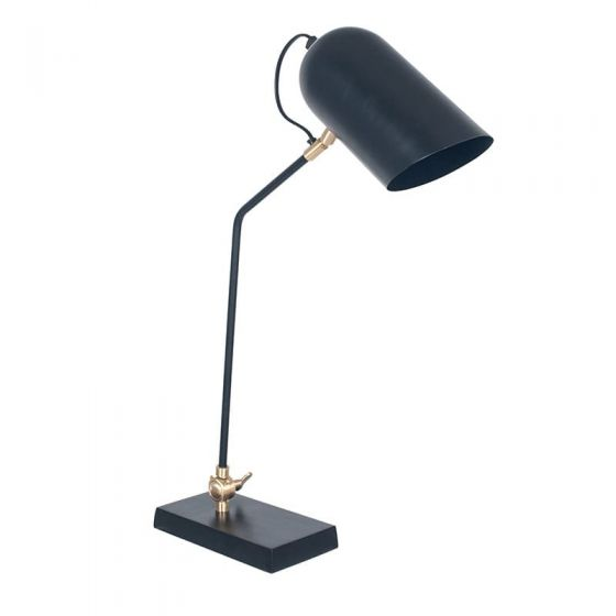 Matt Black and Gold Metal Adjustable Task Table Lamp