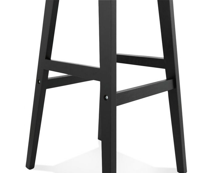 Mattson Black Leather Effect Bar Stool