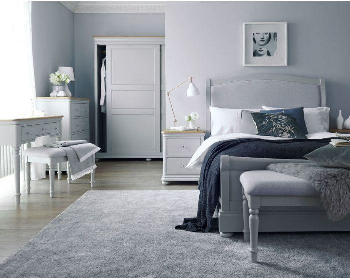 Mendes Soft Grey Bed Frame