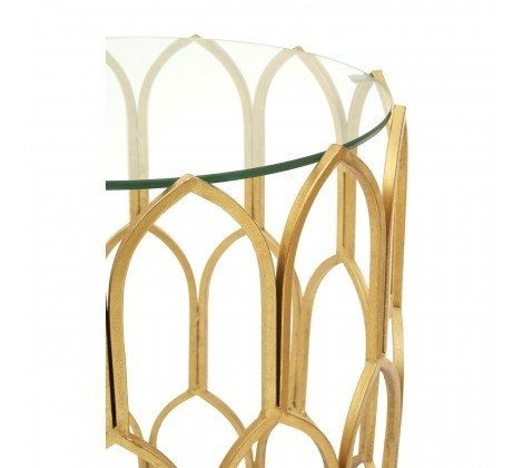 Merlin Gold Leaf Side Table