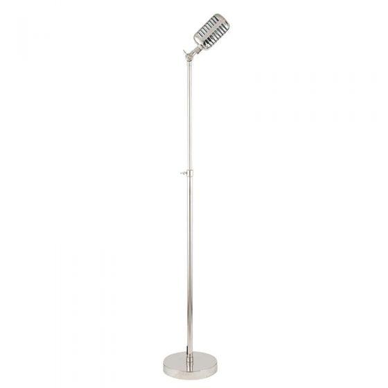 Metal Silver Microphone Style Floor Lamp