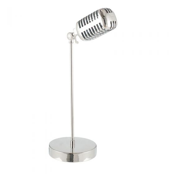 Metal Silver Microphone Style Table Lamp