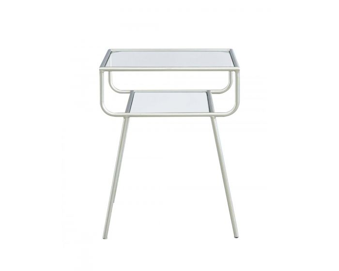 Mia Metal Side Table Silver/Glass