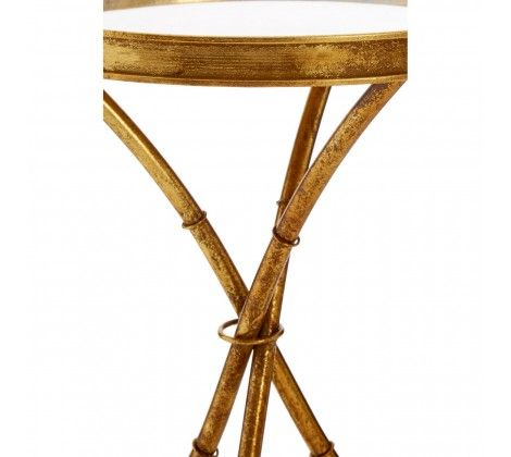 Miguel Gold Finish Steel Accent Table