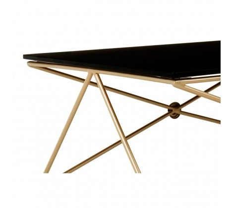 Miguel Gold Finish Steel Coffee Table