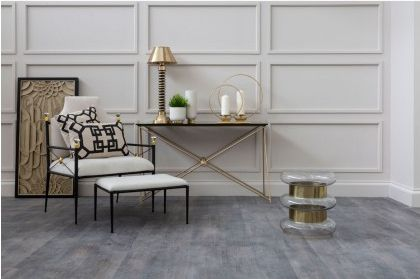 Miguel Gold Finish Steel Console Table