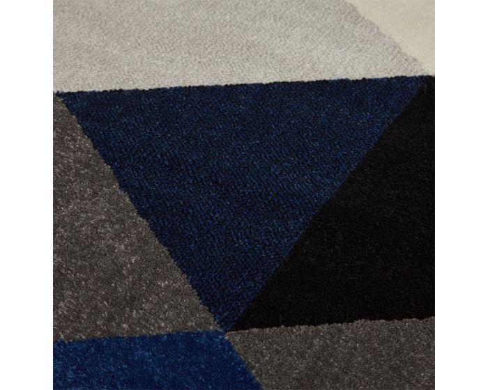 Millie Blue Diamond Pattern Rug