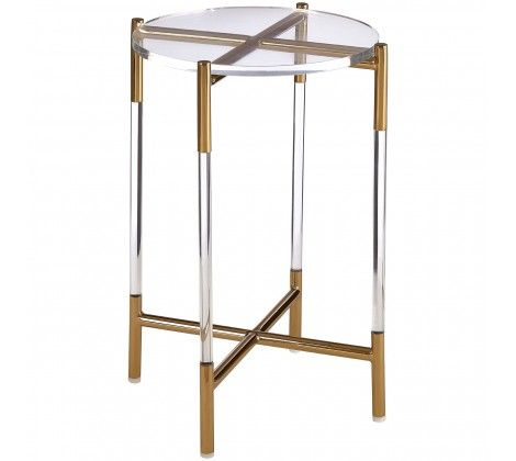 Milly Gold and Clear Side Table