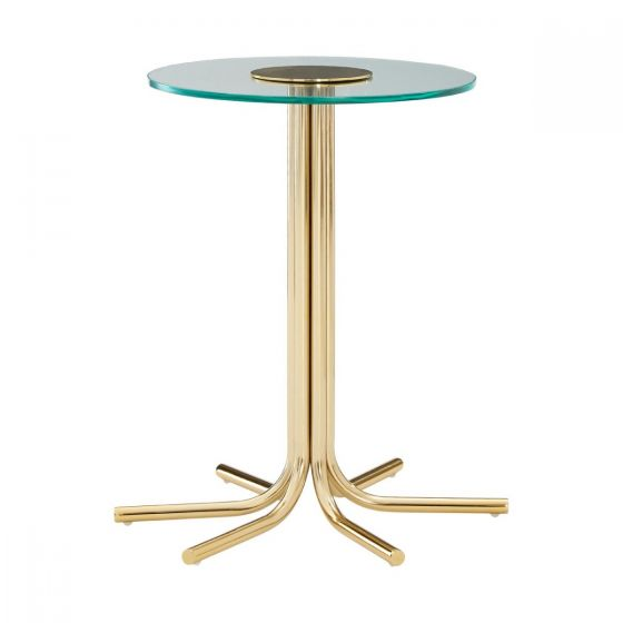 Milly Gold Side Table with Glass Table Top