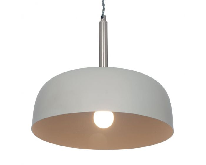 Minimalist Matt Grey Domed Metal Pendant
