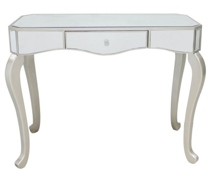 Mirrored Console Table With Champagne Finish