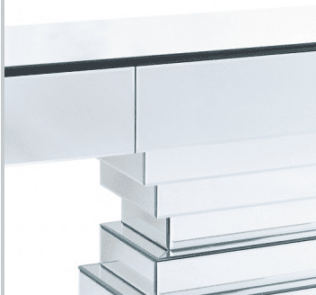 Mirrored Step Design Console Table