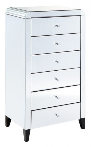 Mirrored Tallboy Chest Bevelled