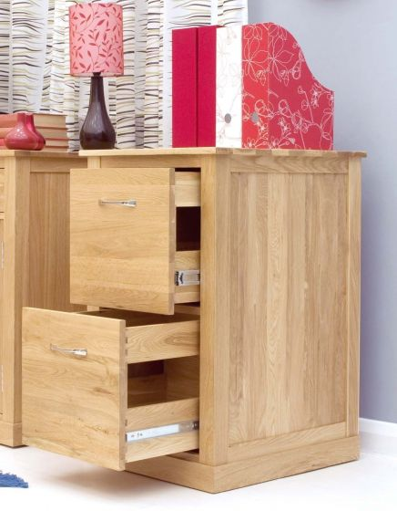 Modern Light Oak Two Drawer Filing Cabinet