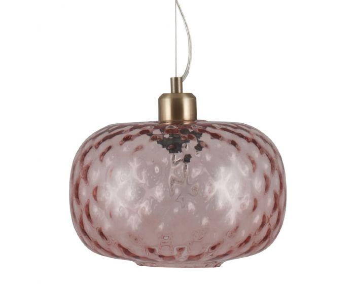 Monroe Rose Textured Glass Oval Pendant
