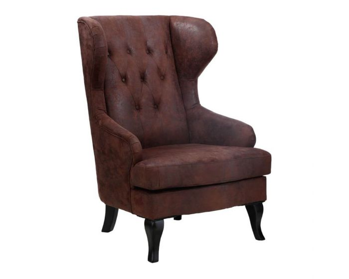 Mumford Executive Brown Leather Effect Chair