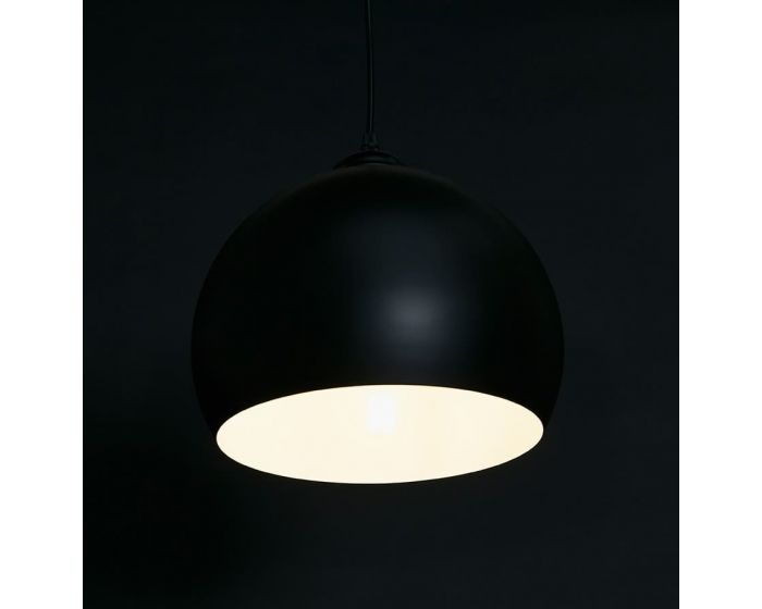 Naslund Black Metal Round Ceiling Light