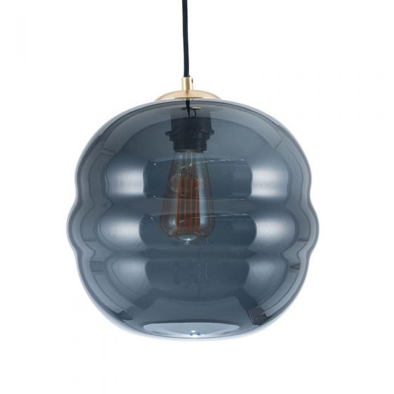 Navy/Dark Grey Vicenza Ripple Globe Pendant