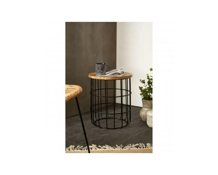 Nest Iron Base Round Side Table