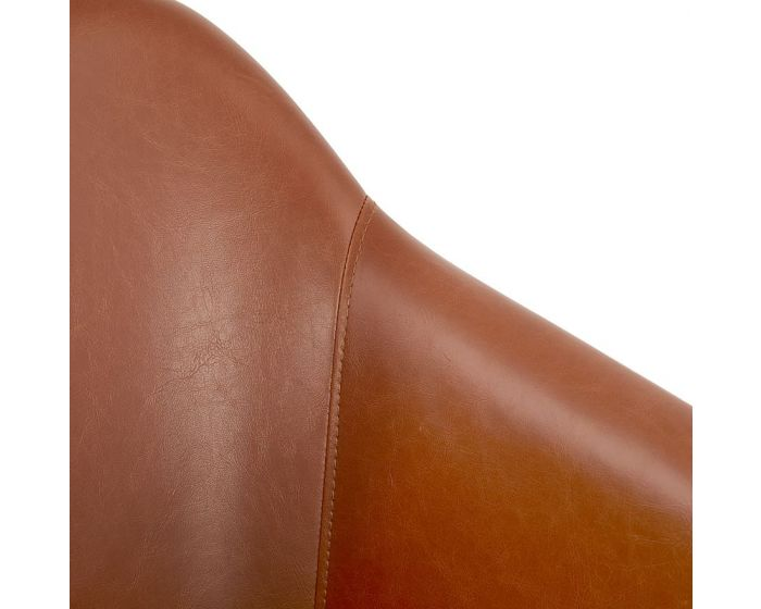 Nea Tan Brown Leather Effect Armchair