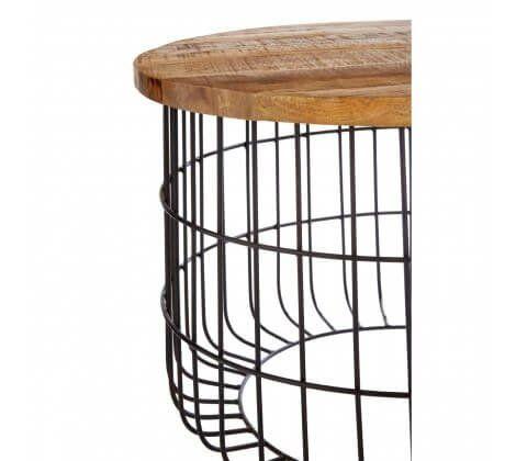 Nest Black Iron Base Coffee Table