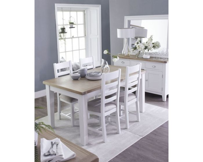 Newholme White Butterfly Extending Table