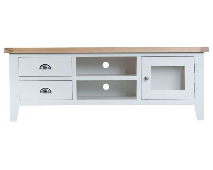 Newholme White Large TV Unit