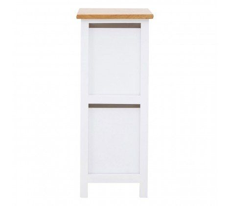 Newport White Slatted 2 Drawer Chest