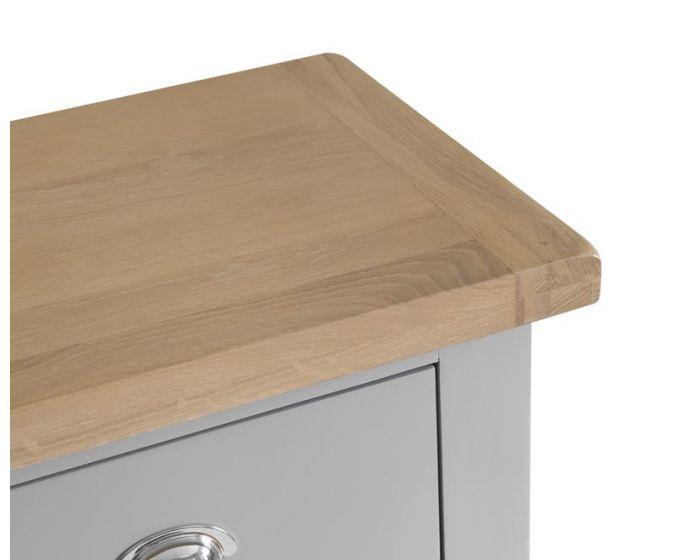 Newsome Grey Oak 5 Drawer Chest