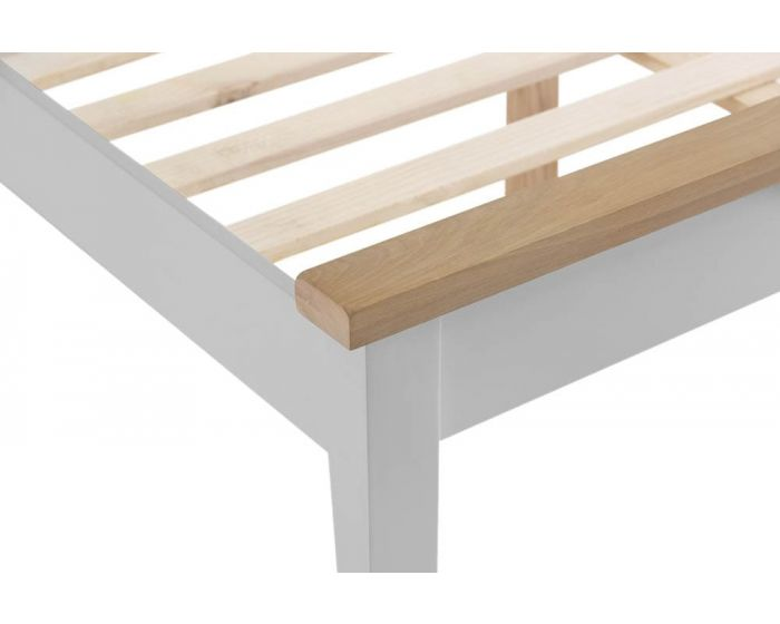 Newsome Grey Oak Bed Frame