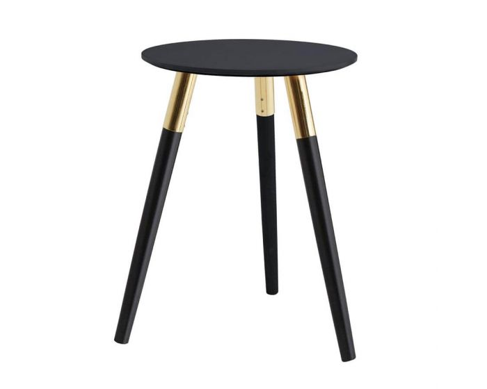 Nolsa Black and Copper Side Table