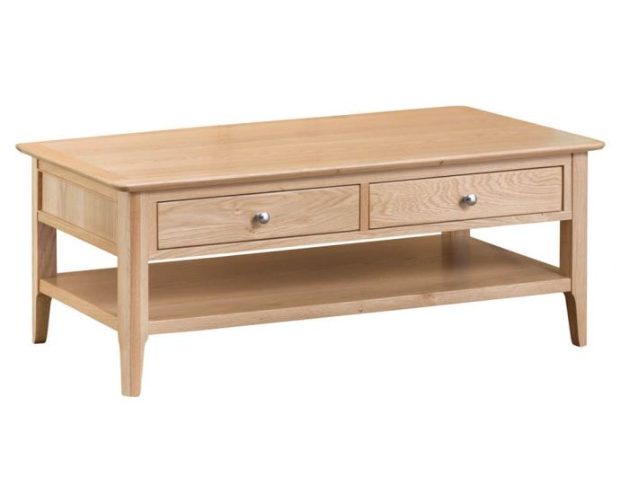 Noah Oak 2 Drawer Coffee Table