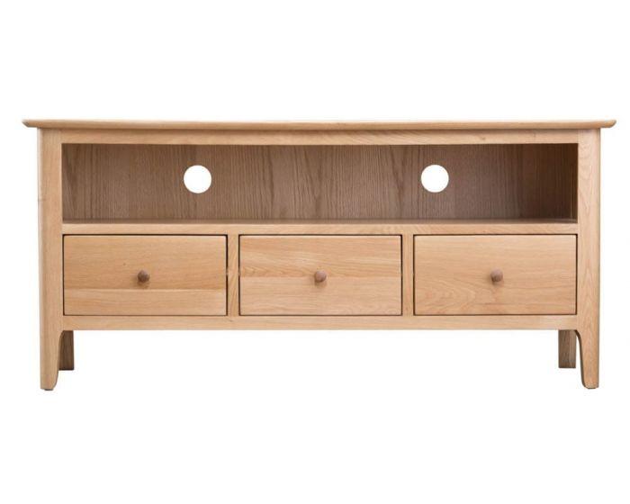 Noah Oak 3 Drawer TV Cabinet