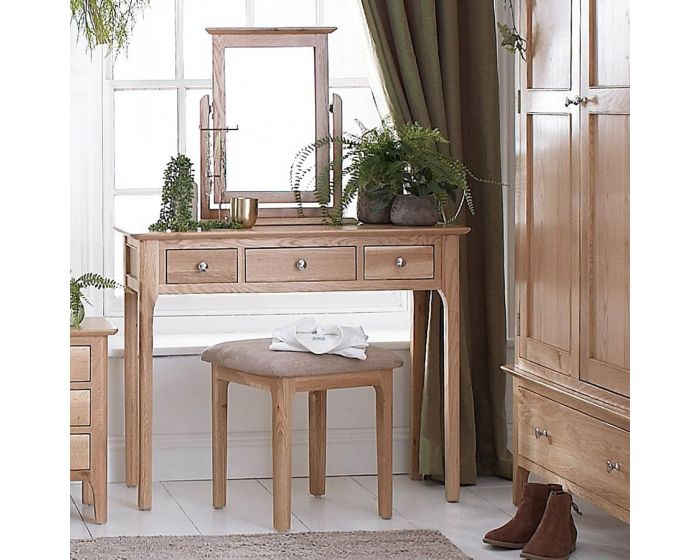 Noah Oak 3 Drawer Dressing Table