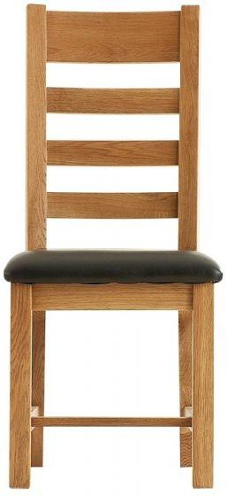 Oak Cross back Chair - PU