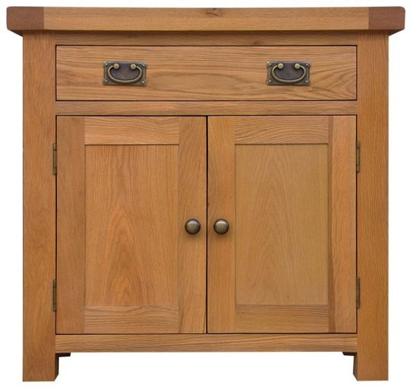 Oakhouse Oak Small 2 Door 1 Drawer Sideboard