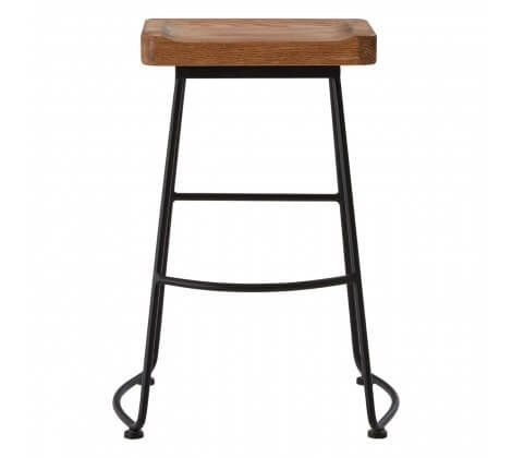 Olympia Brown Mango Wood Bar Stool